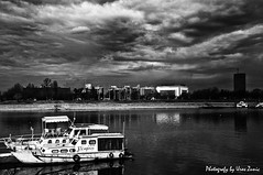 Boaring as hell (Uros Zunic (Belgrade photography guid, contact me)) Tags: bw river landscape interesting nikon ships serbia belgrade sava usce d90 flickraward zunic
