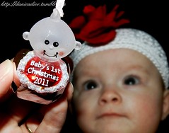 First Christmas  |  Twin 1 (Danica Photography) Tags: christmas flowers girls red baby flower girl photography twins infant babies babygirl fraternal infants redflower fraternaltwins babygirls beaniehat twingirls infantphotography christmasphotography danicadior fraternaltwingirls