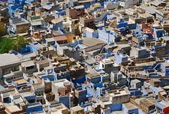 Blue City (Lou Morgan) Tags: city blue india asia louise morgan rajasthan jodhpur