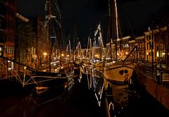 Groningen (Roberto Braam) Tags: old city winter light reflection water night dark boat photo nikon december ship center groningen welvaart blinkagain bestofblinkwinners