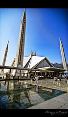 Faisal Mosque, Islamabad (Usman Hayat ~back~) Tags: blue pakistan sky wow amazing nikon angle awesome wide mosque tokina 11mm lahore faisal hayat islamabad usman 1116mm d7000 uhayat