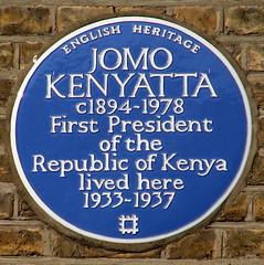 Photo of Jomo Kenyatta blue plaque