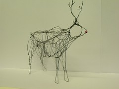 Wire Reindeer (Slackgirl) Tags: sculpture reindeer wire