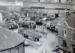 1950's Truck Yard Scene (colinfpickett) Tags: old city town 1930s airport village memories streetscene nostalgia 1940s 1950s nostalgic british 1960s coaches airliner delivering