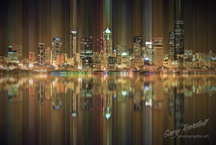 Passing Light (Gary Randall) Tags: seattle abstract night washington motionblur alkibeach happynewyear dsc33542