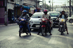 Riders (Karl Hab) Tags: travel cars canon thailand photography eos december mark 85mm ii karl 5d 18 phuket effected hab lightroom scotter 2011  bookeh