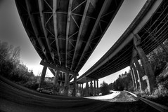 Bridges HDR (Bradley Nash Burgess) Tags: bridge blackandwhite bw monochrome al birmingham nikon alabama bandw hdr highdynamicrange photomatix tonemapped tonemap d80 nikond80