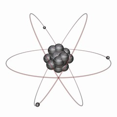 Detailed Animated Atom 3D Model