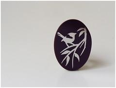 Resina Mora + Acero Inoxidable (Menoratres) Tags: blue bird robin rose azul butterfly steel flor jewelry ring blueberry pajaros resin mariposa anillo acero mora