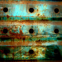 artifact (Hilarywho) Tags: blue metal rust industrial nine holes explore rusted scratched artifact explored nineholes blueplusrust