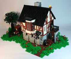 Working out the kinks... (DARKspawn) Tags: house castle lego medieval batman bandits darkknight woodframe darkspawn