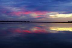 blue & pink (gregoriosz) Tags: sunset sky lake nature hungary pentax dusk velenceitó kx sigma1770f2845