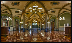 Main Gallery - Iowa State Capitol (w4nd3rl0st (InspiredinDesMoines)) Tags: old building green architecture canon tile landscape arch tour state famous pillar indoor symmetry historic hallway capitol 7d government marble gilded legislature hdr grandhall 2011 photostitching 1585 dontmiss desmoinesisnotboring