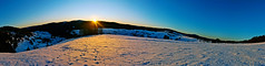 Schauinsland Sunrise, Black Forest (Iestyn Roberts) Tags: winter panorama snow sunrise germany blackforest feldberg schauinsland
