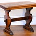 162. Fine Antique Trestle Base Table