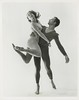 1963 Merce Cunningham press photo with Viola Farber, visited campus
