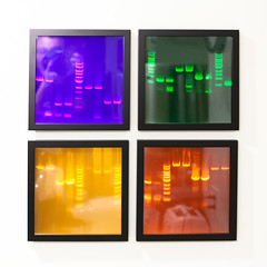 PCR Gel Electrophoresis as Art! (ToastyKen) Tags: framed dna gel pcr electrophoresis sequencing quadriptych