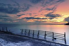 #850C7701- The calm sea and cruel sky (Zoemies...) Tags: sunset sea sky beach calm cruel balikpapan melawai zoemies