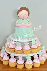 Christening Manika Cake Tower (Klaire with a Cake) Tags: birthday cakes cake doll little christening cupcakery manika bpatism klairescupcakes