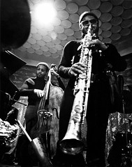 Rahsaan Roland Kirk - Detroit, early 1970s (James S Patterson) Tags: bw 35mm bass detroit jazz sax jazzclub rahsaanrolandkirk hardbop silverprint stritch rolandkirk