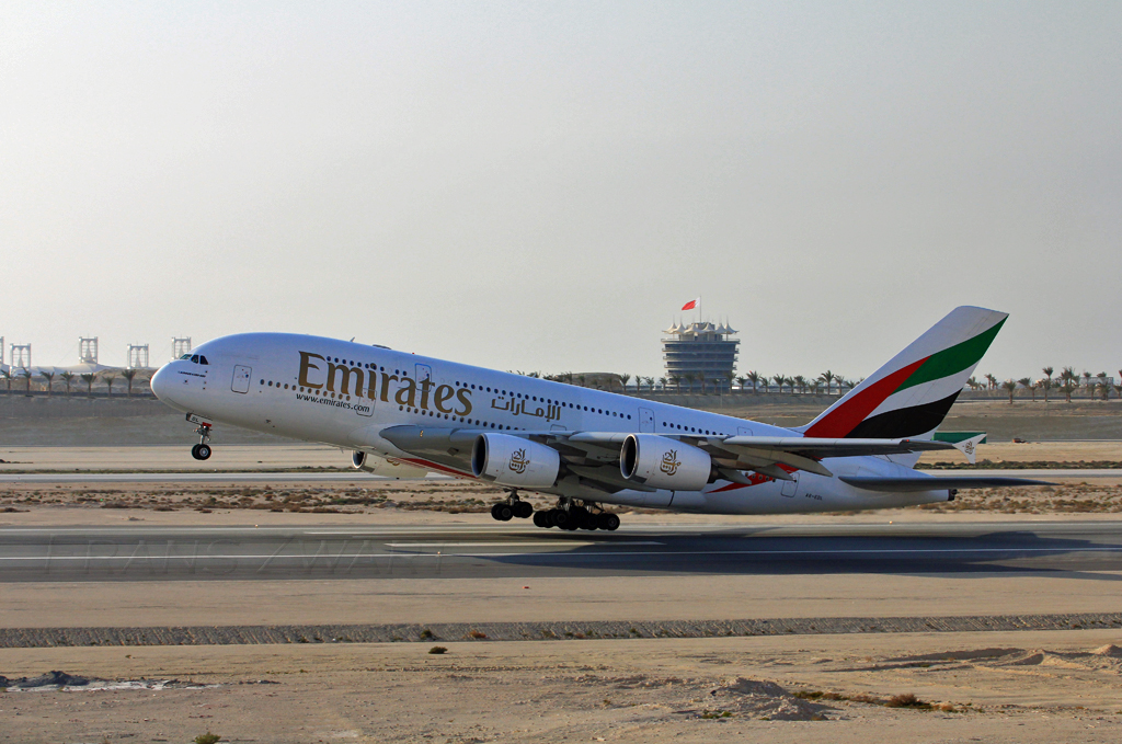 Emirates A380 @ Bahrain Airshow by Frans Zwart, on Flickr