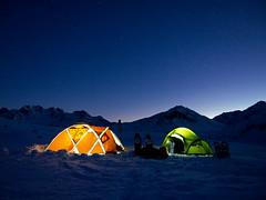 Zweites Camp am Abend (tyrolmountains) Tags: winter snow pen trekking schweiz switzerland olympus snowshoeing engadin snowcamping lightweightbackpacking epl3 30°celsius