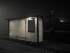 (alancowper) Tags: urban mist bus fog night frost olympus shelter ep3