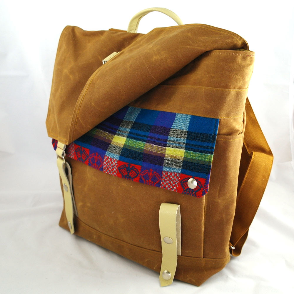 e195fbf895 White Crown Pendleton Backpack (Wooly Bison Bags) Tags  wool leather ginger  spectrum recycled