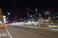 Federation Square at night, Melbourne (elpolodiablo) Tags: station night square pentax australia melbourne da f4 flinders federation 1224 k5
