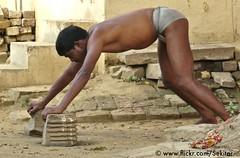 Varanasi, Kushti Training, Tulsi Ghat Akhara (Sekitar) Tags: shirtless india man male sport wrestling varanasi tulsi ghat akhara kushti traiining