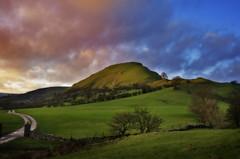 Derbyshire 1 (Kaldesign89) Tags: trees england sky green grass clouds landscape nikon dusk derbyshire hill fields photoshopeffects d7000