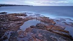 Vantage Point (Ozzify) Tags: ocean longexposure sunset sea sky texture water pool rock clouds landscape evening coast scenery rocks view dusk horizon shoreline australia vista peninsula tidal headland vantagepoint expansive oceanpool highabove southcoogee ivorowe ozzify