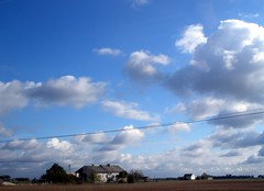 Sky, clouds and wires. (maya_dragonfly) Tags: road sky clouds landscape countryside europe poland olympus mindigtopponalwaysontop fall11