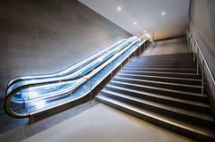 path (Tafelzwerk) Tags: blue light berlin contrast underground licht nikon nacht path stairway treppe potsdamerplatz blau kontrast untergrund rolltreppe langzeitbelichtung longtimeexposure strufen d7000 nikond7000 tafelzwerk tafelzwerkde