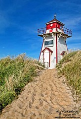 Brackley Beach Lighthouse Prince Edward Island, Canada (PhotosToArtByMike) Tags: lighthouse seascape canada beach landscape dunes scenic princeedwardisland pei landscapephotograph brackleybeachlighthouse