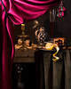 Behind the Curtain (based on a painting by Pieter de Ring) (kevsyd) Tags: curtain candlelight naturemorte 645d kevinbest heemskirk westerwaldjug