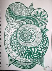 Zentangle #1c 1-27-12 (terry_lynn_12) Tags: art zentangle zentangleart zendoodle zentangleinspiredart