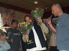2003 Verloting. Annelies, toch nog een bloemetje
