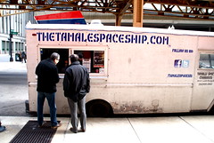 Tamales come on a spaceship? (drew*in*chicago) Tags: food chicago truck amazing tamales delicious 2012 foodtruck chicagoist drewinchicago