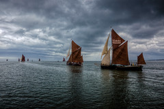 the chase is on (stocks photography) Tags: sea thames kent seaside estuary stocks whitstable smack barge hdr faversham swale sailingbarge thechaseison stocksofwhitstable stocksphotography michaelmarsh swalesmackandbargesailingmatch stocksonflickr