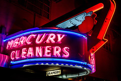 Mercury to the Sky (Thomas Hawk) Tags: california neon photowalk sacramento drycleaner mercurycleaners photowalking photowalking100308 photowalking10032008 photowalk100308 photowalk10032008 photowalkingsacramento2008