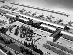 Architectural model for new John Wayne Airport terminal, 1980s (Orange County Archives) Tags: california history airport historical southerncalifornia orangecounty sna johnwayneairport orangecountyairport orangecountyarchives orangecountyhistory