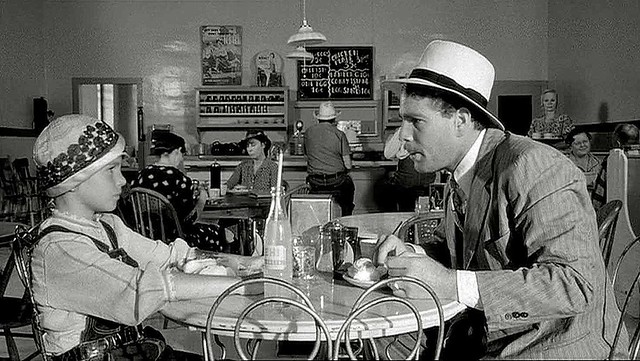 "Tatum and Ryan ONeal in ""Paper moon"""