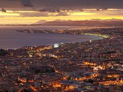 Nice at Sunset (jpmiss) Tags: sunset night nice cloudy olympus côtedazur ferriswheel dri frenchriviera digitalblending enfuse jpmiss bracketeer e620 exposurefusion