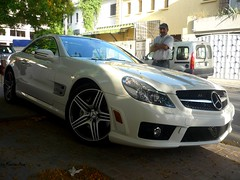6.3 power (karim.bentoudja) Tags: white car mercedes benz super 63 sl morocco maroc supercar amg rabat sl63