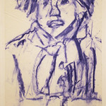 "<b>Navajo Girl I</b><br/> P. Rude (LC '95) (Pastel)<a href=""//farm8.static.flickr.com/7016/6847429805_771091a942_o.jpg"" title=""High res"">∝</a>"