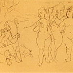 "<b>Judgement of Paris</b><br/> Jack Levine (1915-) ""Judgement of Paris"" Etching, 1964 LFAC #1997:08:16<a href=""//farm8.static.flickr.com/7016/6852456643_a7f1cbb482_o.jpg"" title=""High res"">∝</a>"