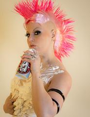 Boy Howdy! w/ Fake Wendy O. Williams (rich tarbell) Tags: pink boy art cars robert beer rock project magazine stars punk williams o cream fake honor photograph shaving mohawk tribute wendy homage creem howdy crumb honour plasmatics