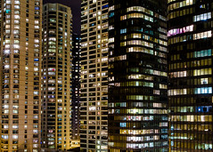 The City Doesn't Sleep (e9studio) Tags: city windows chicago architecture night buildings lights downtown