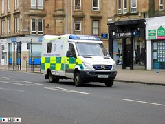 Mercedes Benz Sprinter 4*4 Glasgow 2014 (seifracing) Tags: uk cars ford scotland britain voiture ambulance vehicles nhs m8 aa rac spotting recovery tvr 2014 trimuph glasgo seifracing